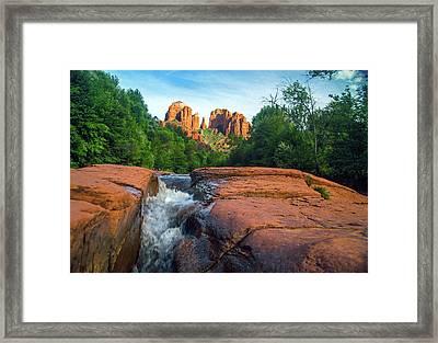Oak Creek And Cathedral Rock Sedona Framed Print