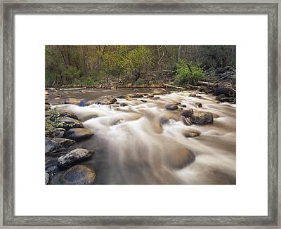 Oak Creek At Grasshopper Point Sedona Framed Print by Tim Fitzharris