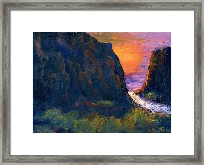Oak Creek Canyon Framed Print by Gail Kirtz
