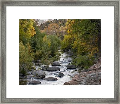 Framed Print featuring the photograph Oak Creek Canyon by Joshua House