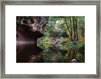 Oak Creek Canyon Reflections Framed Print