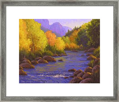 Oak Creek Color Show Framed Print by Cody DeLong