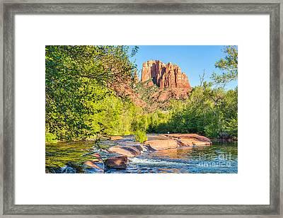 Oak Creek Crossing Framed Print by Tod and Cynthia Grubbs