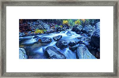Framed Print featuring the photograph Oak Creek Flow by ABeautifulSky Photography