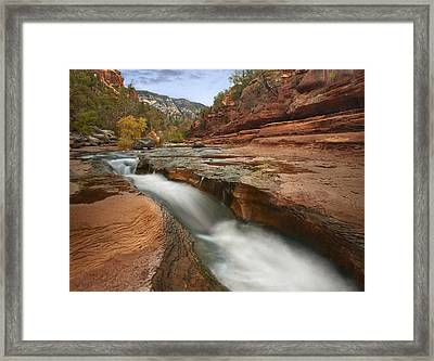 Framed Print featuring the photograph Oak Creek In Slide Rock State Park by Tim Fitzharris