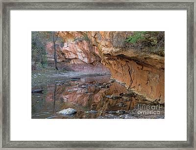 Oak Creek Reflections - Sedona, Az Framed Print