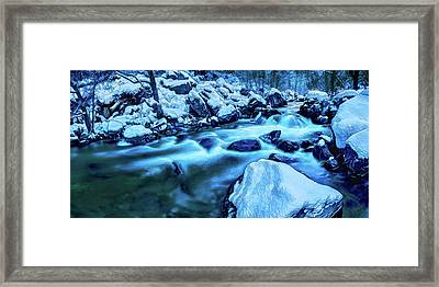 Oak Creek Snow Framed Print by ABeautifulSky Photography