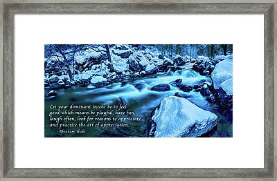 Oak Creek Snow - Appreciation Framed Print by ABeautifulSky Photography