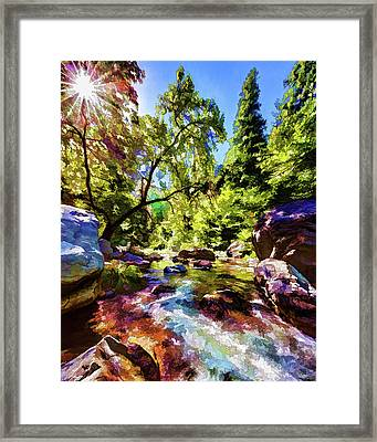 Oak Creek Sycamore Framed Print by ABeautifulSky Photography
