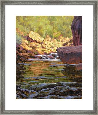 Oak Creek Tributary Framed Print