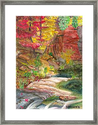Oak Creek West Fork Framed Print