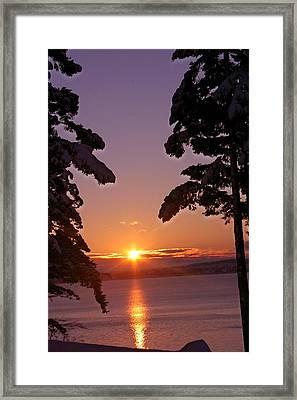 Oak Harbor Sunrise II Sr 2002 Framed Print by Mary Gaines