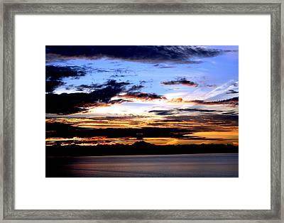 Oak Harbor Sunrise Sr 1002 Framed Print by Mary Gaines