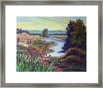 Oak Hill Framed Print by Sandra Longmore