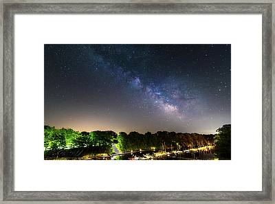 Oak Orchard Milky Way Framed Print