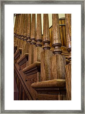 Oak Staircase Framed Print by Thomas Woolworth