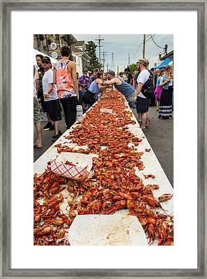 Oak Street Music Street Fair Crawfish Boil Framed Print