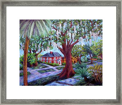 Oak Street Framed Print