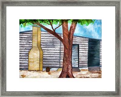 Oak Tree By The Cracker Cabin Framed Print by D Hackett