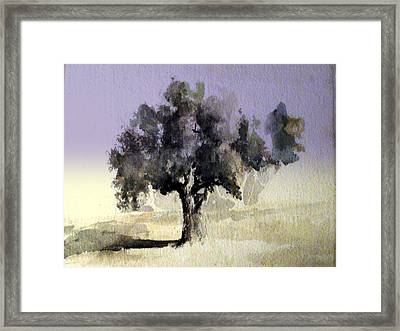 Framed Print featuring the painting Oak Tree by Steven Holder