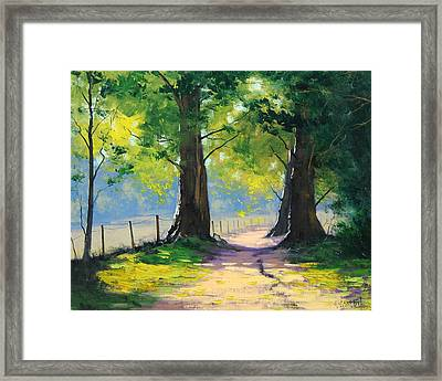 Oak Tree Trail Framed Print