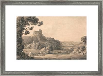 Oakhampton Castle Framed Print