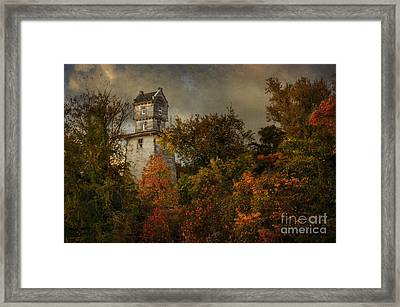 Oakhurst Water Tower Framed Print by Debra Fedchin