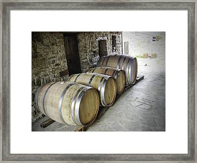 Oaking Wine Framed Print by Phyllis Taylor