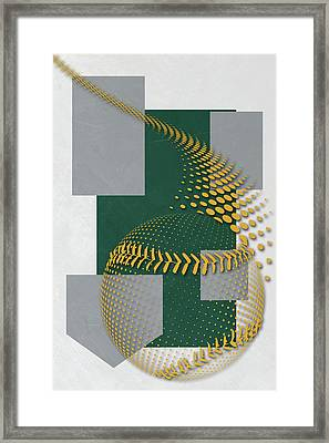 Oakland Athletics Art Framed Print by Joe Hamilton