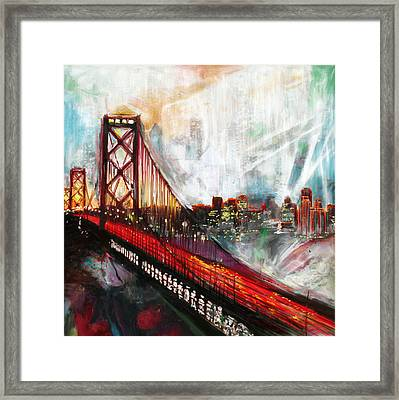 Oakland Bay Bridge 223 1  Framed Print by Mawra Tahreem