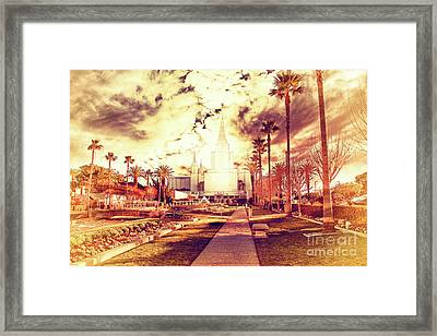 Oakland California Temple The Church Of Jesus Christ Of Latter D Framed Print by Wingsdomain Art and Photography
