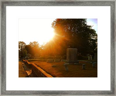 Oakland Cemetery In Atlanta Framed Print by Utopia Concepts