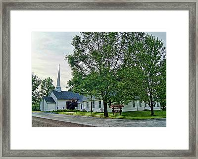 Framed Print featuring the photograph Oakland Christian Church by Cricket Hackmann