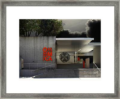 Oakland Museum Of California . 7d13037 Framed Print by Wingsdomain Art and Photography