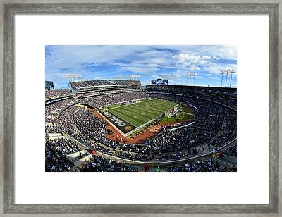 Oakland Raiders O.co Coliseum Framed Print