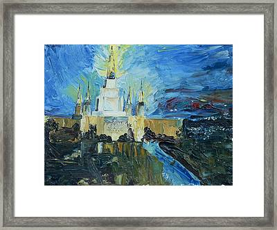 Oakland Temple Framed Print by Jane Autry