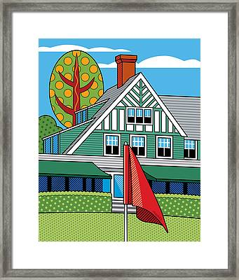 Oakmont Country Club Framed Print by Ron Magnes