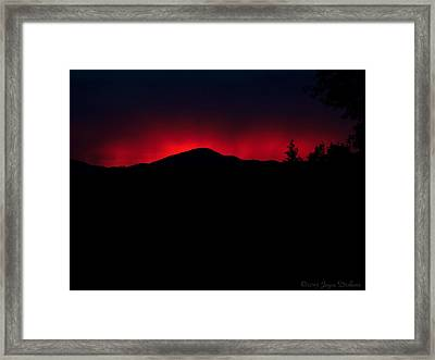 Oakrun Sunset 06 09 15 Framed Print by Joyce Dickens