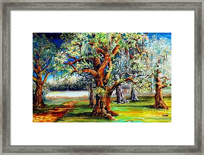Oaks Along The Bayou Framed Print by Diane Millsap