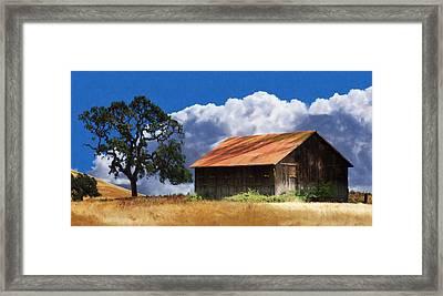 Oaks Barn Framed Print