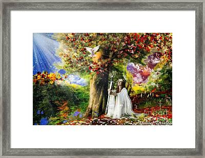 Oaks Of Righteousness Framed Print by Dolores Develde