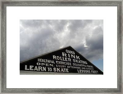 Oaks Skating Rink Framed Print