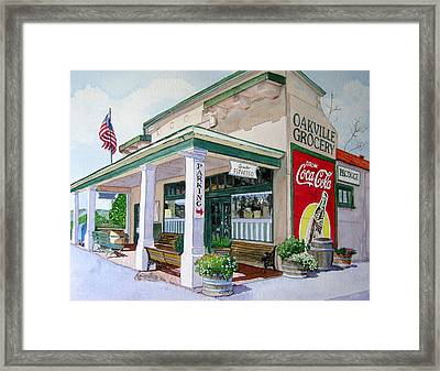 Oakville Grocery Framed Print