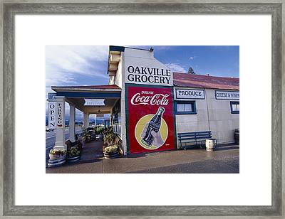 Oakville Grocery Store Napa Valley Framed Print by George Oze