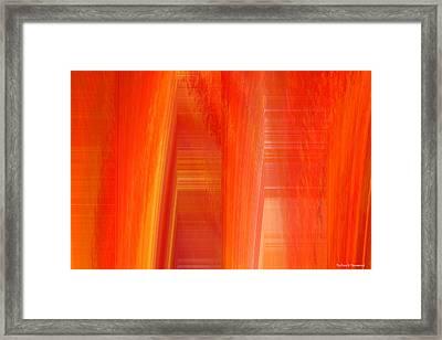 Oange Storm  Framed Print