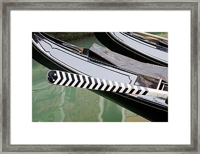 Oar Gondola Venice Framed Print
