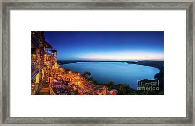 Oasis At Night Framed Print