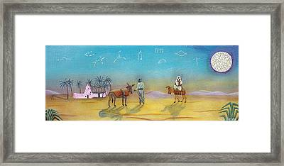 Oasis Evening Framed Print by Sally Appleby