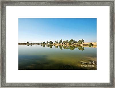 Framed Print featuring the photograph Oasis by Yew Kwang