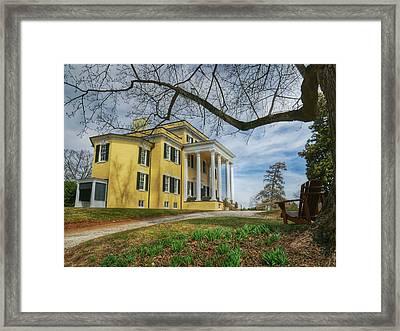 Oatlands Historic Home Framed Print